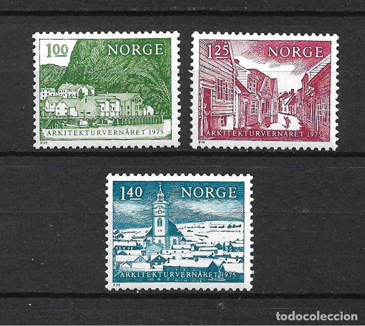 NORUEGA 1975 ** MNH AÑO EUROPEO DEL PATRIMONIO ARQUITECTÓNICO - 17/34 (Sellos - Extranjero - Europa - Noruega)