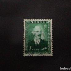 Sellos: SELLO NORUEGA NORGE 1 KRONE REY HAAKON VII USADO AÑO 1946. Lote 222165891