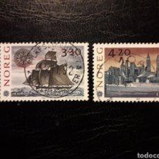 Timbres: NORUEGA YV 1053/4 SERIE CTA USADA 1992 EUROPA CEPT DESCUBRIMIENTO AMÉRICA. BARCOS. PEDIDO MÍNIMO 3 €. Lote 231684135