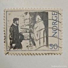 Sellos: NORGE. SELLO USADO DE 50 ORE DEL AÑO 1971. ENVÍO GRATIS POR PEDIDOS DE 3€ Ó MÁS.. Lote 235551555