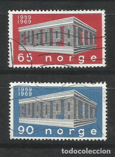 6015C-SERIE COMPLETA NORUEGA NORGE EUROPA 538/9 AÑO 1969. (Sellos - Extranjero - Europa - Noruega)