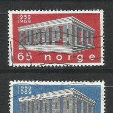 Sellos: 6015C-SERIE COMPLETA NORUEGA NORGE EUROPA 538/9 AÑO 1969.. Lote 235809125