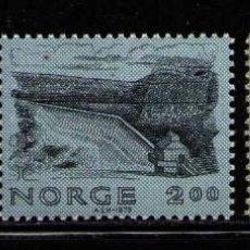 Sellos: NORUEGA 1979 IVERT 758/60 *** CONSTRUCCIONES NORUEGAS - PUENTES. Lote 236323445