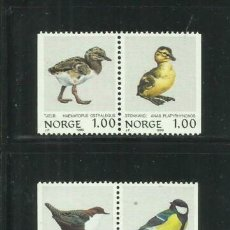 Sellos: NORUEGA 1980 IVERT 767/70 *** FAUNA - SERIE BÁSICA - AVES - PÁJAROS (I). Lote 236323975