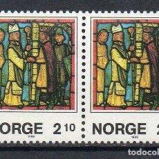Sellos: NORUEGA 1986 IVERT 915A *** NAVIDAD - VIDRIERAS DE LA CATEDRAL DE NIDAROS. Lote 236328370