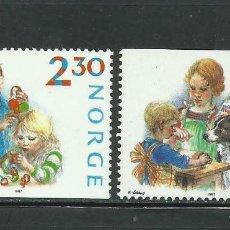 Sellos: NORUEGA 1987 IVERT 940/1 *** NAVIDAD - PREPARATIVOS NAVIDEÑOS. Lote 236329835