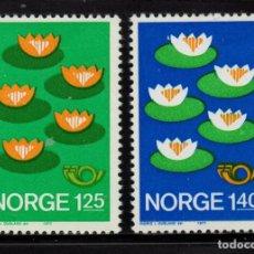 Sellos: NORUEGA 693/94** - AÑO 1977 - NORDEN 77 - PROTECCION DEL MEDIO AMBIENTE. Lote 236605185