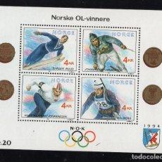 Sellos: NORUEGA HB 16** - AÑO 1991 - JUEGOS OLIMPICOS DE INVIERNO DE LILLEHAMMER. Lote 236607985