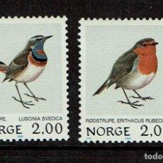 Sellos: NORUEGA PAJAROS Y AVES 1982. Lote 239446300
