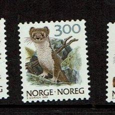 Sellos: NORUEGA ANIMALES1989. Lote 239446865
