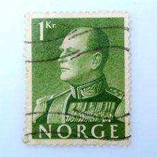 Sellos: SELLO POSTAL NORUEGA 1959 ,1 KR, REY OLAV V, USADO. Lote 243418005