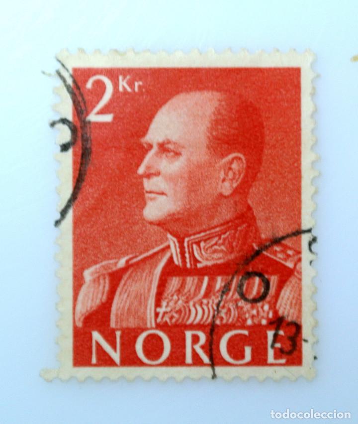 SELLO POSTAL NORUEGA 1959 ,2 KR, REY OLAV V, USADO (Sellos - Extranjero - Europa - Noruega)