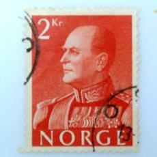 Sellos: SELLO POSTAL NORUEGA 1959 ,2 KR, REY OLAV V, USADO. Lote 243419970
