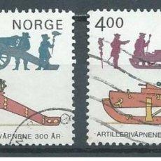 Sellos: SELLOS USADOS DE NORUEGA 1985, YT 877/ 78. Lote 243666965