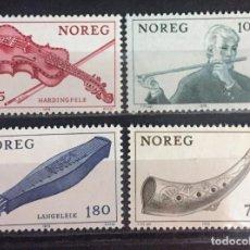 Sellos: NORUEGA, INSTRUMENTOS FLOCLORICOS DE MUSICA. Lote 245884335