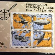 Sellos: NORUEGA, NORWEX 80 OSLO 1980. Lote 245885200
