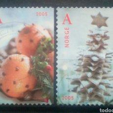 Sellos: NORUEGA 2005 NAVIDAD SERIE DE SELLOS USADOS. Lote 253446725