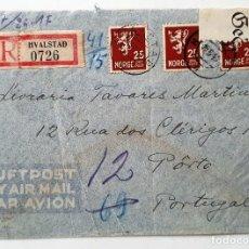 Sellos: SOBRE OCUPACION NORUEGA. 1943. CENSURA NAZI.. Lote 253798760
