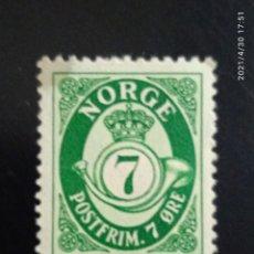 Sellos: NORUEGA 7 ORE POSTFRIM AÑO 1921.. Lote 262127030