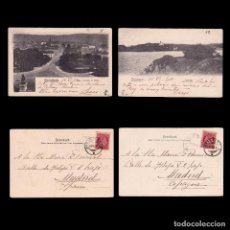 Sellos: 2 POST CARD. NORWAY. 10TH STAMP. CHRISTIANIA POSTMARK. 1902. DESTINATION MADRID.. Lote 269482683