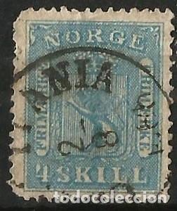 NORUEGA - 1867 - 4 SKILLING (Sellos - Extranjero - Europa - Noruega)