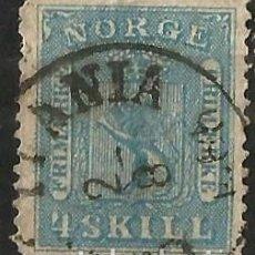 Sellos: NORUEGA - 1867 - 4 SKILLING. Lote 277092373