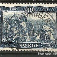 Sellos: NORUEGA - 1930 - REY OLAF - USADO. Lote 277101323