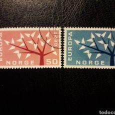 Sellos: NORUEGA YVERT 443/4 SERIE COMPLETA USADA 1962 EUROPA CEPT PEDIDO MÍNIMO 3 €. Lote 277204983