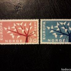 Sellos: NORUEGA YVERT 443/4 SERIE COMPLETA USADA 1962 EUROPA CEPT PEDIDO MÍNIMO 3 €. Lote 277204988