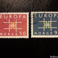 Sellos: NORUEGA YVERT 460/1 SERIE COMPLETA USADA 1963 EUROPA CEPT PEDIDO MÍNIMO 3 €. Lote 277204998