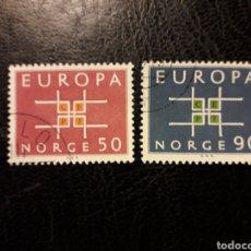 Sellos: NORUEGA YVERT 460/1 SERIE COMPLETA USADA 1963 EUROPA CEPT PEDIDO MÍNIMO 3 €. Lote 277205008