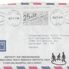Sellos: CORREO AEREO: NORUEGA 1975. Lote 277210928