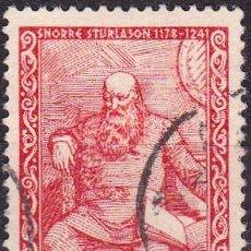 Sellos: 1941 - NORUEGA - SNORRI STURLUSON - LITERATO - YVERT 215. Lote 287658213