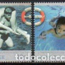 Sellos: NORUEGA 1567/8, CENTENARIO DEL SERVICIO NACIONAL DE SALVAMENTO ACUATICO, NUEVO *** (SERIE COMPLETA). Lote 294444238