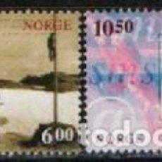 Sellos: NORUEGA 1551/2, 150 ANIVERSARIO DEL SERVICIO DE TELEGRAFO EN NORUEGA, NUEVO ***. Lote 294446408