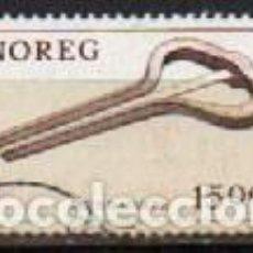 Sellos: NORUEGA IVERT Nº 820, INSTRUMENTO MUSICAL: GUIMBARDA, USADO. Lote 296637323