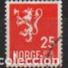 Sellos: NORUEGA IVERT Nº 116 (AÑO 1926) LEÓN. SIN LÍNEA ENTRE ØRE Y POST, USADO. Lote 296686328