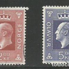 Sellos: NORUEGA - 1969 - 2 SELLOS CON EL RAY OLAV V. - MI: 590 + 591 - USADOS. Lote 296739783