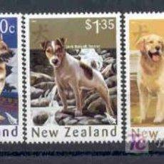 Sellos: NUEVA ZELANDA 2006.- RAZAS DE PERROS. AÑO CHINO. Lote 26310815
