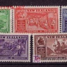 Sellos: NUEVA ZELANDA 227/31*** - AÑO 1936 - CONGRESO DE CÁMARAS DE COMERCIO IMPERIALES. Lote 24858393