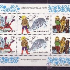 Sellos: NUEVA ZELANDA HB 45*** - AÑO 1980 - PRO OBRAS PARA LA SALUD INFANTIL - LA PESCA. Lote 25490892