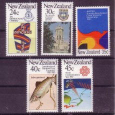 Sellos: NUEVA ZELANDA 831/35*** - AÑO 1983 - ANIVERSARIOS Y ACONTECIMIENTOS - PECES. Lote 147659929