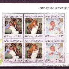 Sellos: NUEVA ZELANDA HB 67*** - AÑO 1989 - PRO OBRAS DE LA INFANCIA - CASA REAL BRITÁNICA - DUQUES DE YORK. Lote 23862284