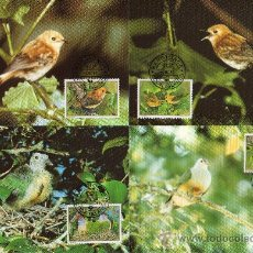 Sellos: ISLAS COOK NUEVA ZELANDA AÑO 1989 YV - TMX - WWF - CONSERVACIÓN DE LA NATURALEZA - FAUNA - AVES. Lote 27299087