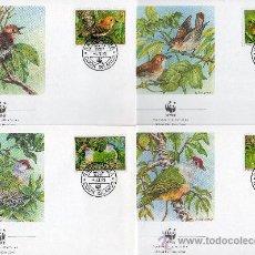Sellos: ISLAS COOK N ZELANDA AÑO 1989 MI 1278/81 - SPD - WWF - CONSERVACIÓN DE LA FAUNA - AVES - NATURALEZA. Lote 27299088