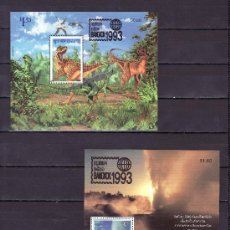 Sellos: NUEVA ZELANDA HB 91/2 SIN CHARNELA, SOBRECARGADO, BANGKOK 1993, FAUNA, DINOSAURIOS, HIDROTERAPIA. Lote 24529937