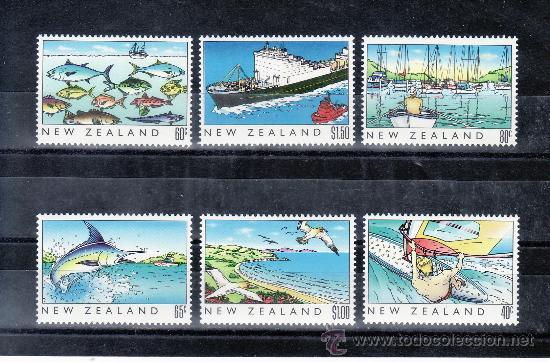 NUEVA ZELANDA 1045/50 SIN CHARNELA, PATRIMONIO DE NUEVA ZELANDA, EL MAR, DEPORTE, BARCO, AVES, PESCA (Sellos - Extranjero - Oceanía - Nueva Zelanda)