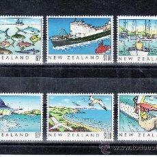 Sellos: NUEVA ZELANDA 1045/50 SIN CHARNELA, PATRIMONIO DE NUEVA ZELANDA, EL MAR, DEPORTE, BARCO, AVES, PESCA. Lote 24530643