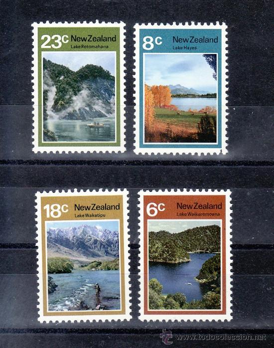 NUEVA ZELANDA 576/9 SIN CHARNELA, LAGOS DE NUEVA ZELANDA, (Sellos - Extranjero - Oceanía - Nueva Zelanda)