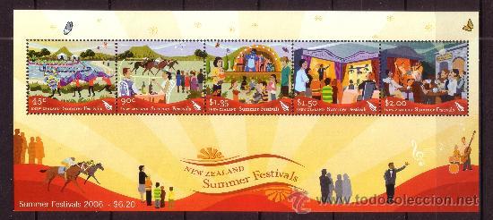 NUEVA ZELANDA HB 213*** - AÑO 2006 - FESTIVALES DE VERANO - FOLKLORE (Sellos - Extranjero - Oceanía - Nueva Zelanda)